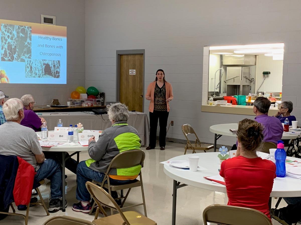 Cindy Hilbish teaches class